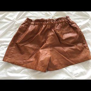 Zara Shorts - Brown faux leather shorts